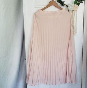 Banana Republic Skirts - Pleated light Pink maxi Skirt
